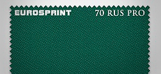 Сукно бильярдное Eurosprint 70 Rus Pro 198cм, Yellow Green